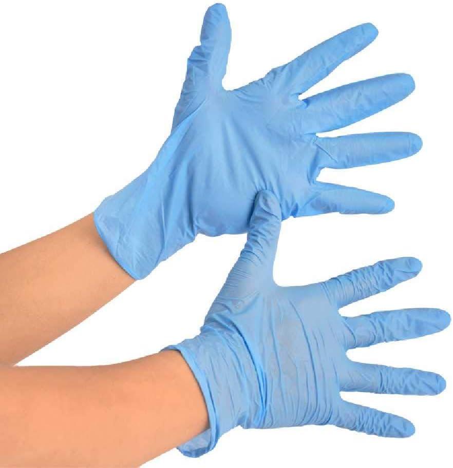 SHIJIA Classe A Nitrile Blu//PVC USA E Getta//Medicina Nitrile//Gomma//Guanti in Lattice Sperimentale Resistente Allolio Dentale Protezione del Lavoro Mano 100 Pz//Scatola S