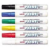 Uni-Paint PX-20 Oil-Based Paint Marker, Medium Point, Assorted Colors, 6-Count