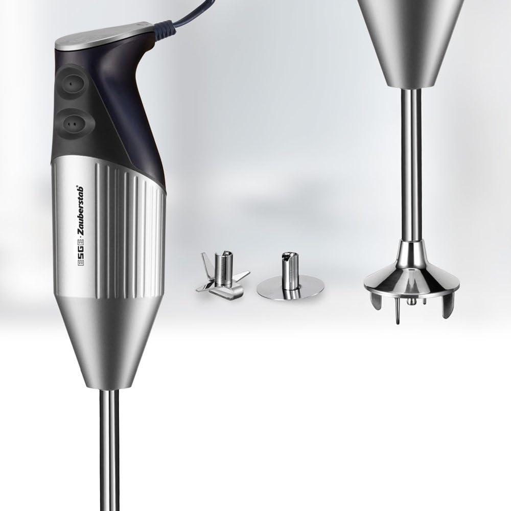 ESGE-Zauberstab M 18 Silverline, Stabmixer Silber/Dunkelblau, mit Zubehör,  bis 18.18 U/Min, 18