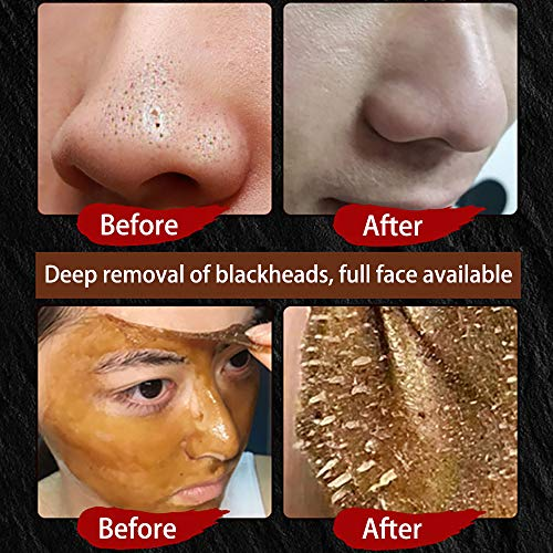 Peel Off Face Mask,Blackhead Remover Mask Ginseng Herbal Beauty Deep Cleansing Facial Mask Pore Shrinking, Acne and Oil Control for Face & Nose