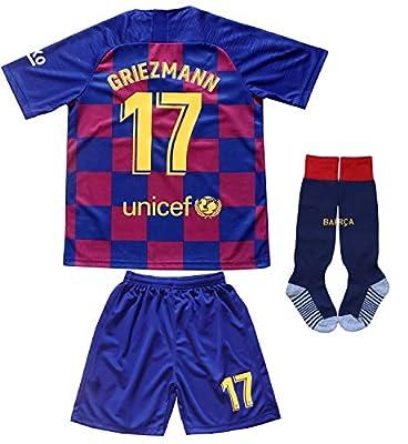 Da Games Youth Sportswear Barcelona Griezmann 17 Kids Home Soccer Jersey/Shorts Football Socks Set