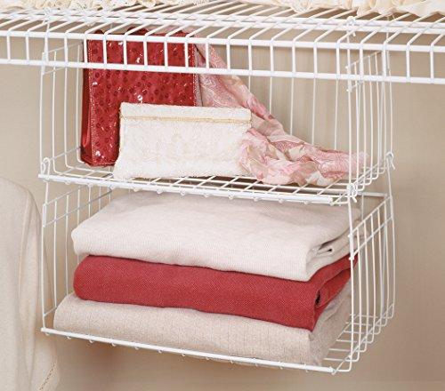 Amazon.com   ClosetMaid 6222 Hanging Basket For Wire Shelving   Home Storage  Baskets