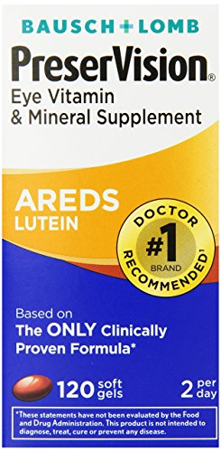 PreserVision AREDS Lutein Eye Vitamin & Mineral Supplement, Beta-Carotene Free, Soft Gels, 120 ct (Beta Carotene Calcium)