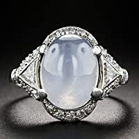 Art Deco Style Oval Cut Moonstone Opal 925 Silver Antique Engagement Ring Sz6-10 by Siam panva (6)