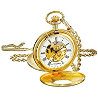 Charles-Hubert, reloj de bolsillo mecánico chapado en oro de París