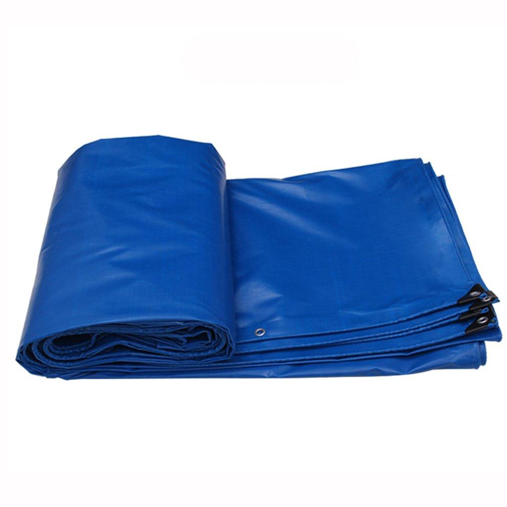 防水 厚い防水性の雨日焼け止めの防水シートのタパフリントラックのファジー布の防水シートPVC B07F6HV3GL 6*4m|Blue Blue 6*4m