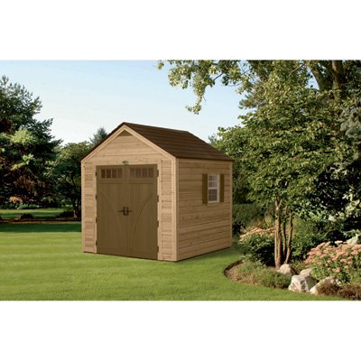 Suncast Wood/Resin 8-Foot by 8-Foot by 8-Foot Hybrid Shed