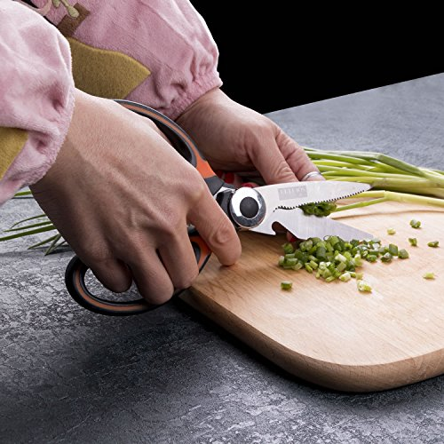 Kitchen shears- Soufull Multifunctional Stainless Steel Poultry Scissors for Poultry Meat Vegetables Herbs BBQ Open Jars and Nut Cracker -Professional Heavy Duty Kitchen Scissors by Soufull (Image #5)