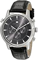 Tommy Hilfiger Harrison men's black leather chronograph watch 1790875