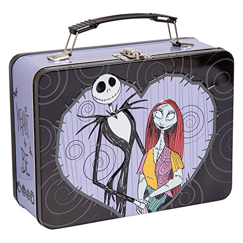 Vandor The Nightmare Before Christmas Jack and Sally Large Tin Tote, 3.5 x 7.5 x 9 Inches (84070) ()