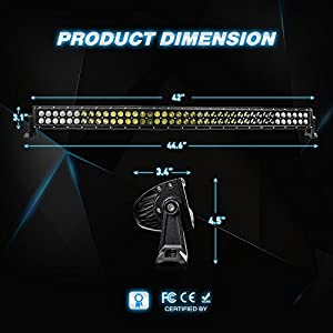Led Light Bar Nilight 42Inch 240W Curved Spot Flood Combo Led Off Road Lights Super Bright Driving Light Boat Lights Driving Lights LED Work Light,2 Years Warranty