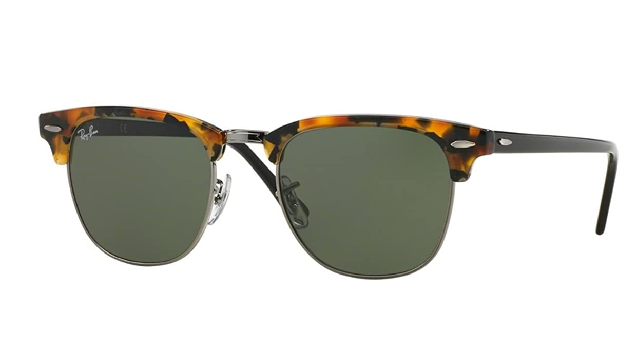 937c0a5fa287d Amazon.com  Ray-Ban Black Havana Clubmaster RB 3016 1157 51mm  Clothing