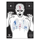 zombie bow targets - Triumph Systems Threat Down Zombie Silhouette | Reactive Target | Shooting Target | Reactive Splatter Cells | Air Rifle, Pistol, Shotgun, Throwing Knives | Target