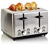 CE NORTH AMERICA PS77451 Professional Series Stainless Steel 4 Slice Toaster, Silver