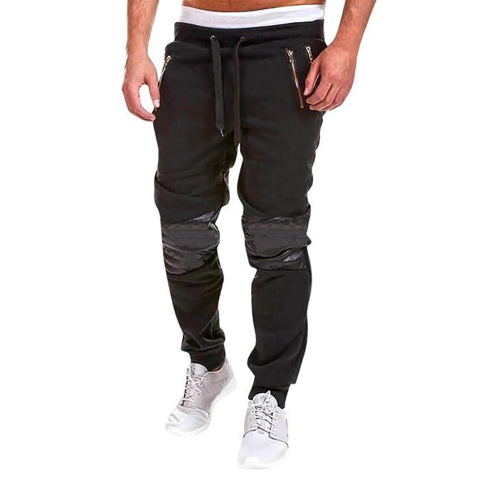 San Francisco 15b0a 6dfd2 PAOLIAN Uomo Pantaloni,Uomo Moda Cerniera Patchwork Cotone ...