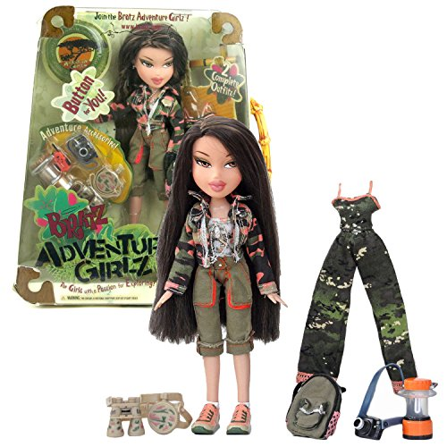 Mga Entertainment Bratz Doll - MGA Entertainment Bratz Adventure Girlz Series 10 Inch Doll - JADE with 2 Sets of Outfits, Camera, Water Canteen, Binoculars, Walkie-Talkie, Lantern, Backpack and Adventure Girlz Button