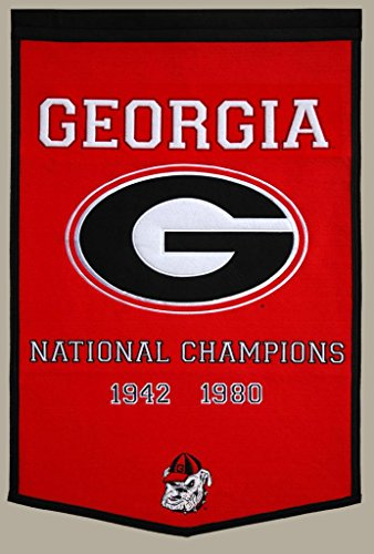 Georgia Bulldogs Official NCAA Banner Flag by Winning Streak by Winning Streak