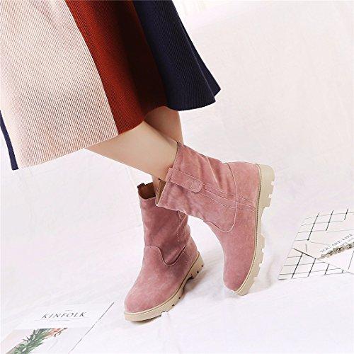 El el de algodón algodón y planas damas botas Pink botas otoño botas invierno de qf4nBxpqw