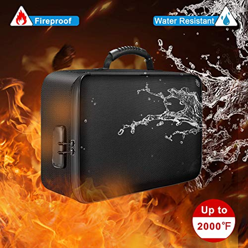Image of DocSafe Document Bag with Lock,Fireproof 3-Layer File Storage Case