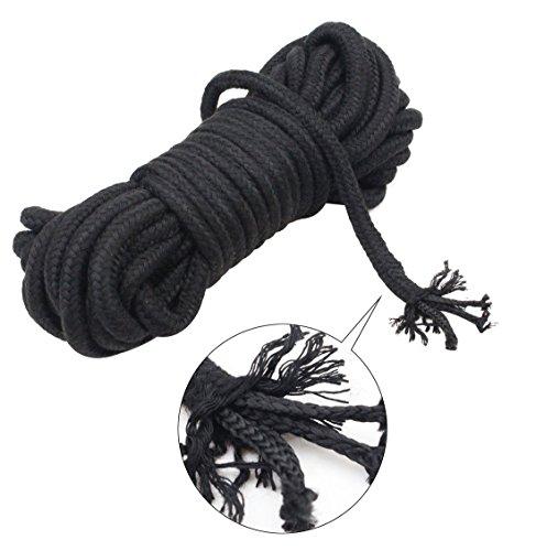 Bondageseile Erwachsene SM Sex Werkzeuge, Soft Bondage Seil-Bügel Restraints Kit für Sex (10m, Schwarz)