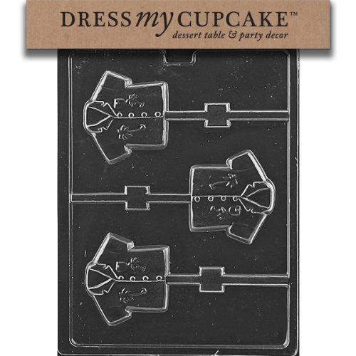 Dress My Cupcake DMCM234SET Chocolate Candy Mold, Hawaii Shirt Lollipop, Set of 6 by Dress My Cupcake