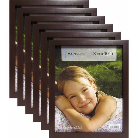 "Picture Frame 5"" x 7"" Set of 6 Black Linear Home Wall Decor"