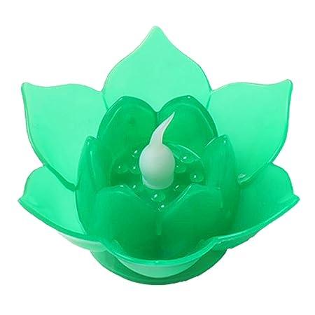 F Fityle Buda Meditación Plástico Lotus Tealight Vela ...