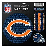 WinCraft NFL Chicago Bears Prismatic Magnets Sheet, 11''x11'', Team Color