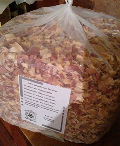 Amish Aromatic Red Cedar Wood Shavings. 100% All Natural. 8 lbs or 4 lbs of Shavings/Curls. Made in The USA! (4 - Wood Garden Chips