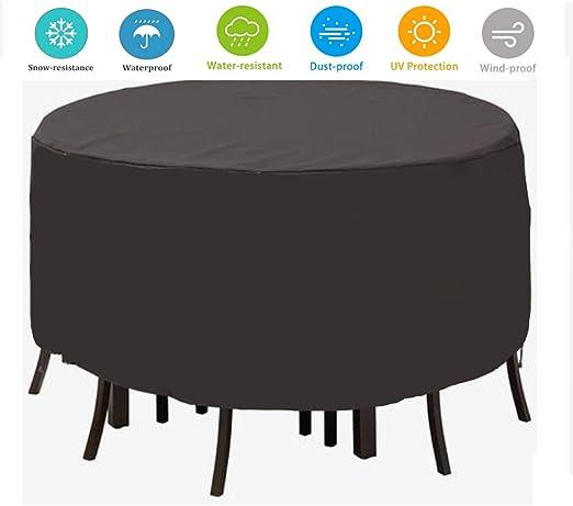 TTWOW Fundas Impermeable de Muebles de Jardin para Mesa Funda Cubierta 210D Poliéster Resistente al Polvo Funda Protectora Ronda, Negro(128 * 71): Amazon.es: Jardín