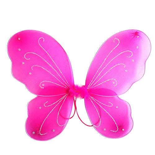 BOBORA Kid Girl Angel Fairy Wings Dress Party Costume Halloween Cosplay Costume Party Angel Dress