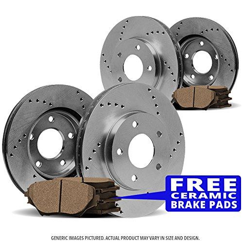 SPEC Cross Drilled Brake Rotors & 8 Ceramic Pads(5lug) (2004 Chevy Blazer Specs)