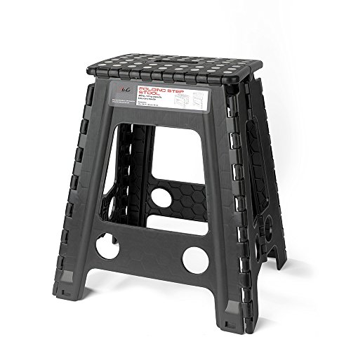 Acko Black 18 Inches Non Slip Folding Step Stool for Kids and Adults with Handle by Acko