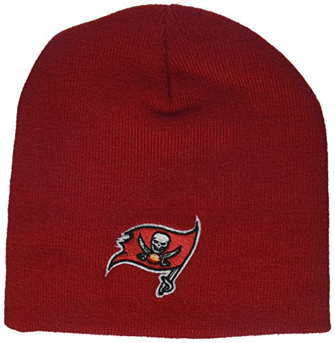(Outerstuff NFL Boys 4-7 Basic Cuffless Knit Hat-Red-1 Size, Tampa Bay Buccaneers)