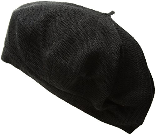 Echo Women's Solid Beret Hat, Black, One Size