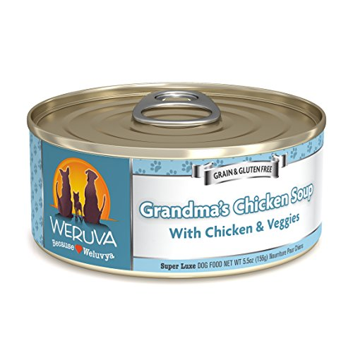 Weruva Classic Dog Food, Grandma's Chicken Soup with Chicken Breast & Veggies, 5.5oz Can (Pack of 24)