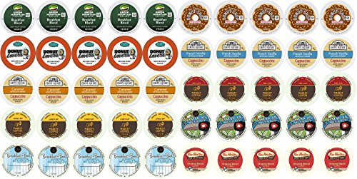 50-count K-cup Coffee Variety Pack For Keurig Brewers Including Green Mountain, Coffee People, Marley, Wolfgang Puck, Tim Hortons, Donut Lover's, & Grove Square (Keurig Coffee Packets compare prices)