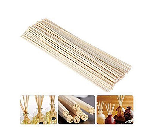 (50 Pcs 25cm Oil Diffuser Replacement Rattan Reed Wood Sticks Fragrance Essential Oil Aroma Diffuser Replacement Sticks)