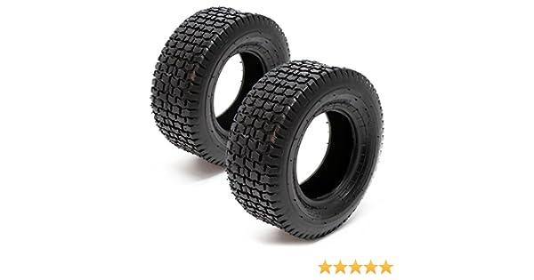 WilTec Set 2X Cubiertas Ruedas Tractor cortacésped 13x5.00-6 Ruedas segadora jardín Accesorios jardinería