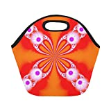 Best Under Armour Lunch Boxes - Insulated Neoprene Lunch Bag Fractal Orange Large Size Review
