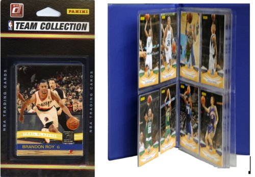 NBA Portland Trailblazers Licensed 2010-11 Donruss Team Set Plus Storage Album ()