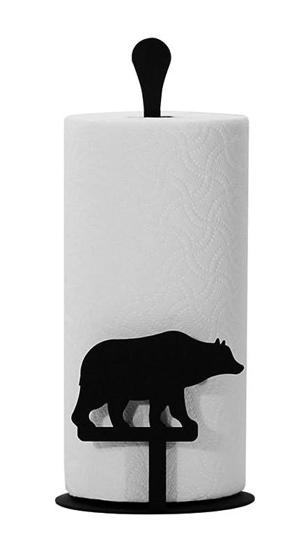 Amazon.com: Iron Counter Top Bear Kitchen Paper Towel Holder - Heavy ...