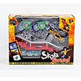 Finger Bike Set,Hometall Mini Skate Fingerboards Skateboards Ramp Parts with Bicycles Toy Creative Game(C)