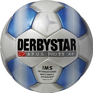 DERBYSTAR Trainingsball - APUS PRO TT, Farbe:Weiß/Blau