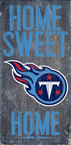 Tennessee Titans Official NFL 14.5 inch x 9.5 inch Wood Sign Home Sweet Home by Fan Creations 048593 by Fan Creations