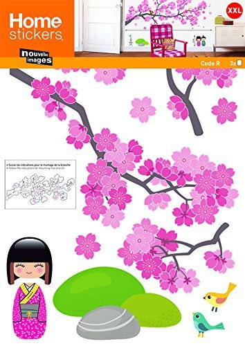 Nouvelles Images HOST1566 Branches of Cherry Blossom Tree Wall Decals, XX-Large
