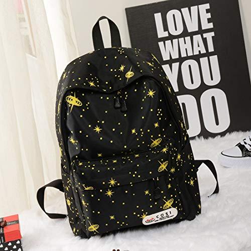 Ligero School Star Bag Commuter Peso Cosmos Gran Capacidad Outer Space De Popularidad Yellow Ladies Mochila Haxibkena qH5CXw