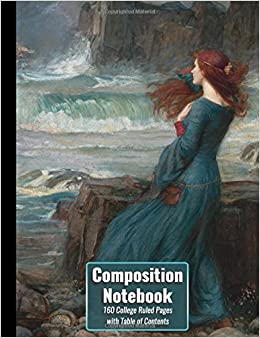 composition notebook the tempest 160 numbered college ruled pages with table of contents high school composition size paperback notebook top scholar