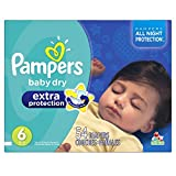 Pampers Extra Protection Diapers Size-6 Super Pack, 54-Count- Packaging May Vary