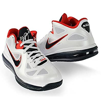sports shoes ba99c 0ac7a Amazon.com   Nike Men s Lebron 9 Low 510811 101 White Obsidian University  Red Basketball Shoe (Men Size 11, White Obsidian University Red)   Running